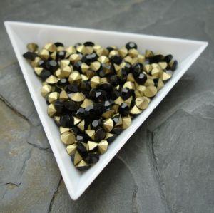 Skleněné šatony cca 4,2 - 4,4 mm - černé