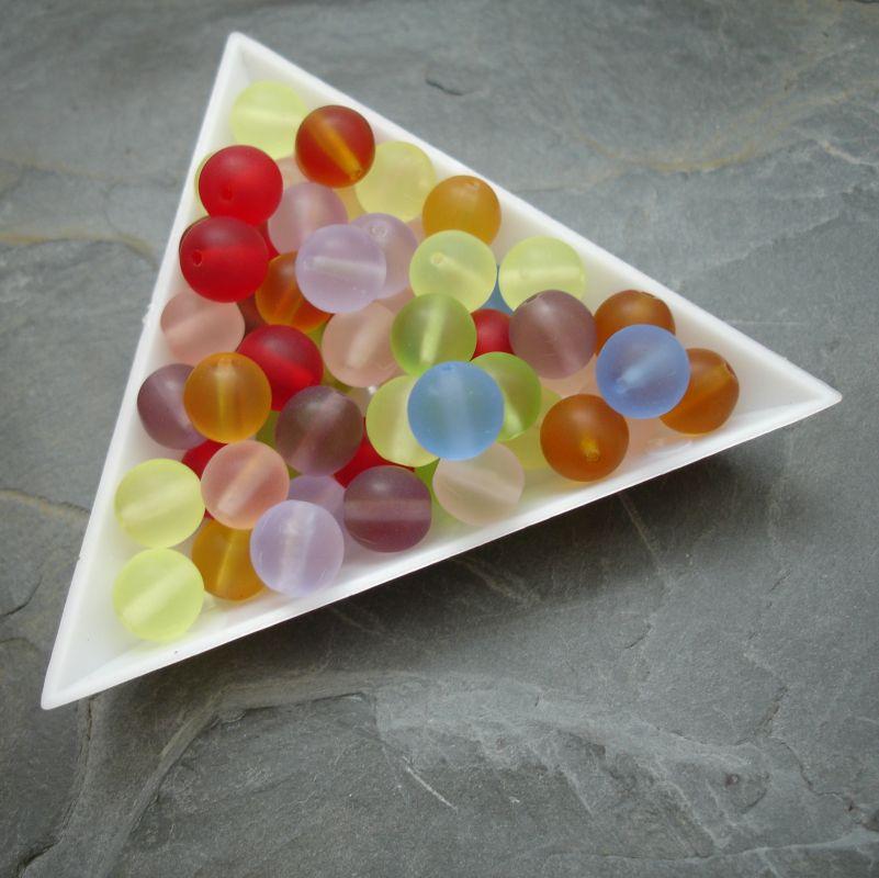 Skleněné korálky kuličky 8mm mix barev - 30g