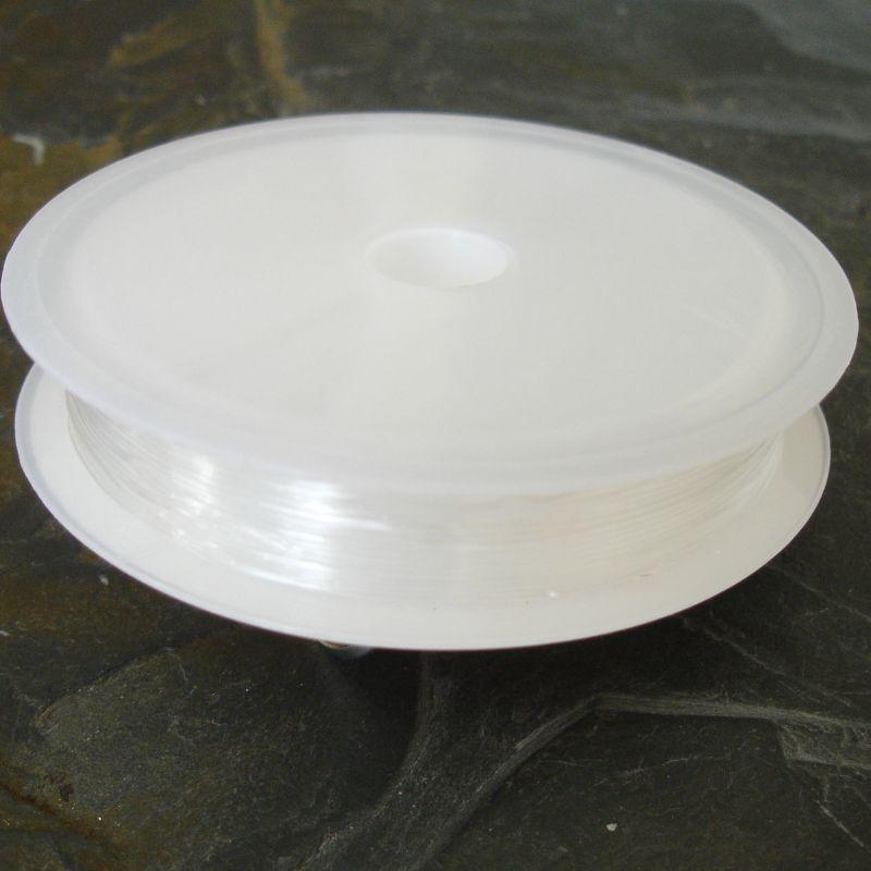 Pruženka silikonová cca 0,5 mm - čirá