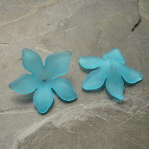 Akrylový květ 29mm - azurový