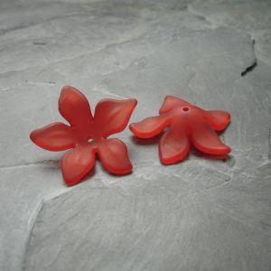 Akrylový květ 29mm - červený