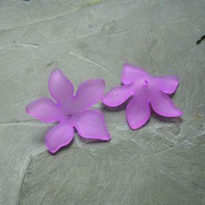 Akrylový květ 29mm - fialový