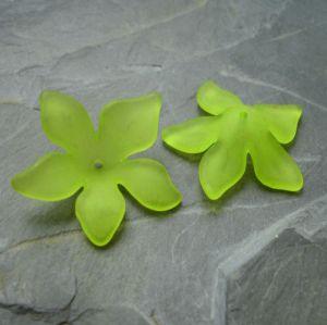 Akrylový květ 29mm - žlutozelený