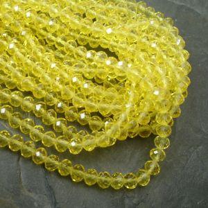 Broušené rondelky cca 8x6mm - žluté