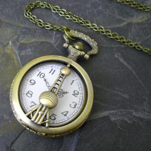 """Kapesní hodinky """"cibule"""" - starobronzové č. 1."""