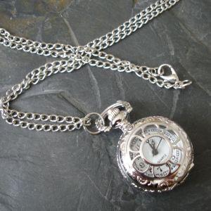 """Komponent malé kapesní hodinky """"cibule"""" s ornamentem II. - platinový"""