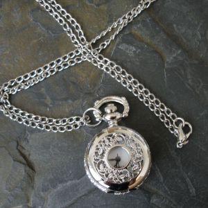 """Komponent malé kapesní hodinky """"cibule"""" s ornamentem I. - platinový"""