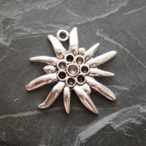 Přívěsek kytka 38x40 mm - starostříbrná