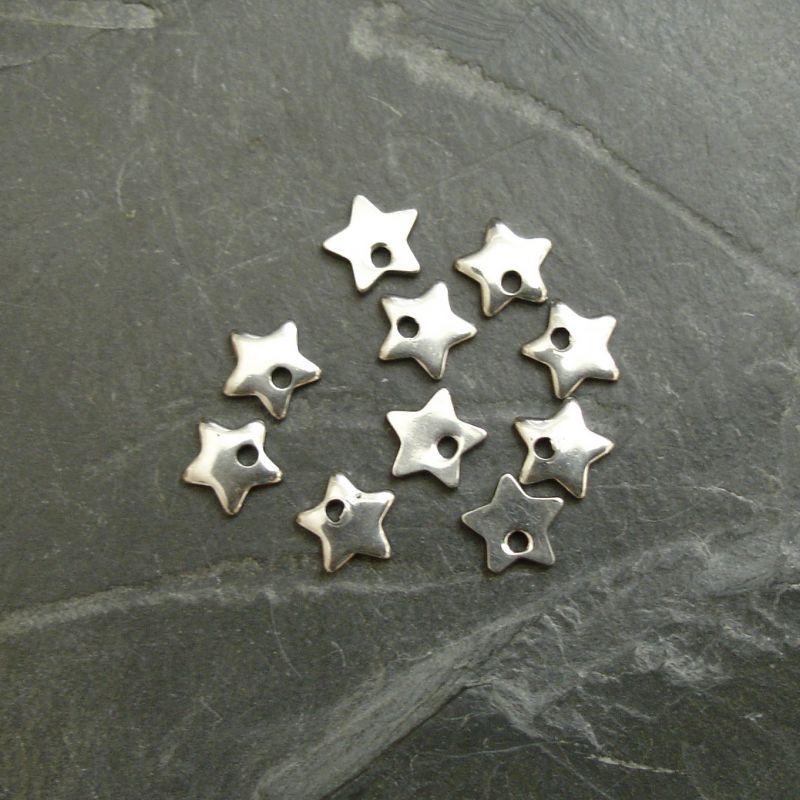 Přívěsek malá hvězdička 6mm - nerezová ocel 304 (Stainless Steel)