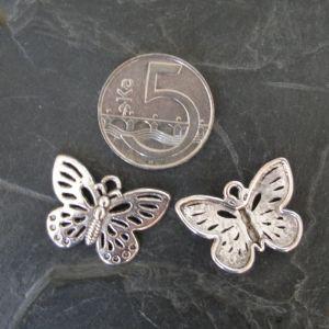 Přívěsek motýlek 25x17mm - starostříbrný