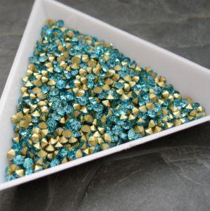 Skleněné šatony cca 1,6 - 1,7 mm - azurové
