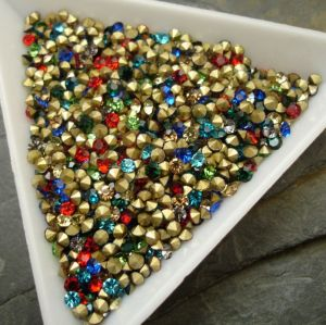 Skleněné šatony cca 2,4-2,5 mm - mix barev I.