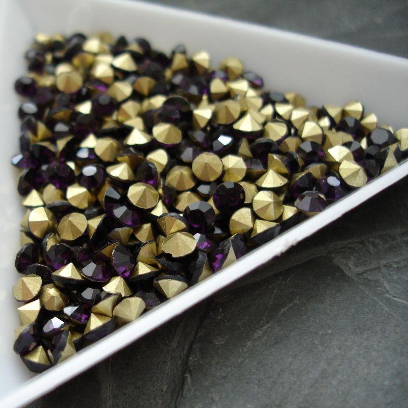 Šatony cca 3,3 - 3,4 mm - tm. fialové