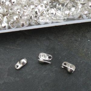 Kalota 6x3,5mm s očky - stříbrná