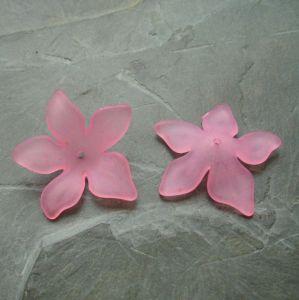 Akrylový květ 29mm - sv. růžový
