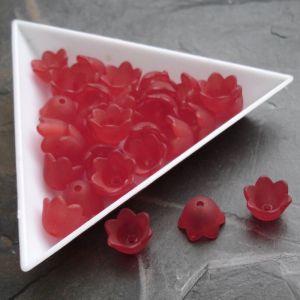 Akrylové zvonečky 10x9mm - červené