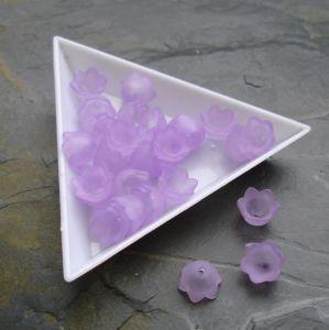 Akrylové zvonečky 10x9mm - fialové