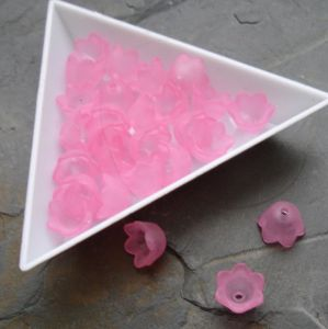 Akrylové zvonečky 10x9mm - růžové