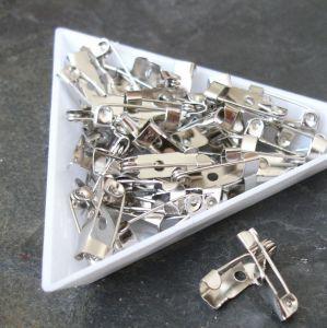 Brožový můstek cca 15x4,5 mm - platinový