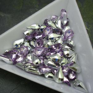 Kamínek akrylová kapka 5x8mm - fialová