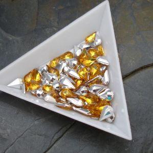 Kamínek akrylová kapka 5x8mm - žlutá