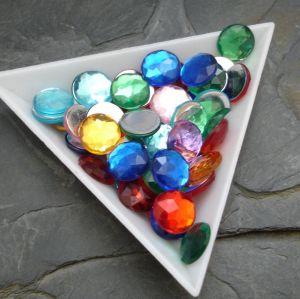 Kamínek akrylový kulatý 10mm - mix
