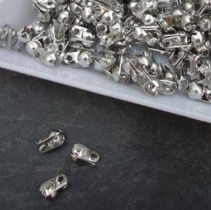 Kalota 6x3,5mm s očky - platinová