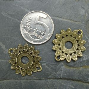 Spojovací díl květ 26x23mm - starobronzový
