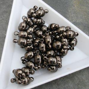 Magnetické zapínání 11x5mm - gunmetal