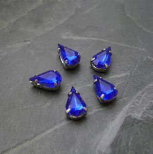 Akrylové kamínky 10x6mm v kotlíku - modré