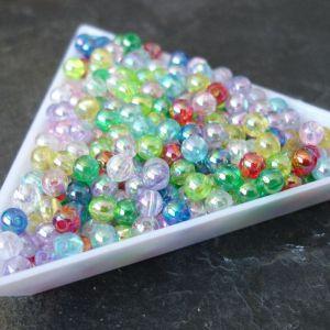Plastové korálky kuličky cca 4mm - mix AB