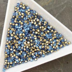 Skleněné šatony cca 2,3-2,4 mm - sv. modré