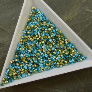 Skleněné šatony cca 2,1 - 2,2 mm - azurové
