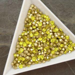 Skleněné šatony cca 3,3-3,4 mm - žluté