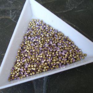 Skleněné šatony cca 1,9 - 2,0 mm - fialové sv.