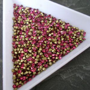 Skleněné šatony cca 2,0 - 2,1 mm - růžové syté