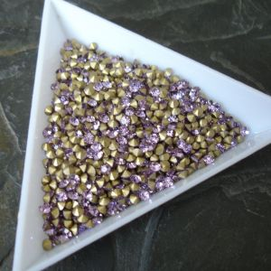 Skleněné šatony cca 2,4 - 2,5 mm - fialové sv.