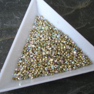 Skleněné šatony cca 2,7 - 2,8 mm - čiré AB