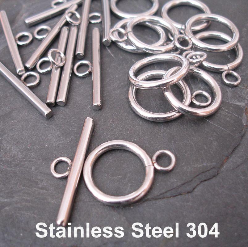 Americké zapínání 19x14mm - nerezová ocel 304 (Stainless Steel) - 1 set