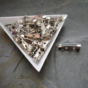 Brožový můstek cca 20x5 mm - platinový - 10 ks