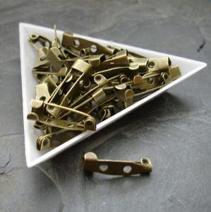 Brožový můstek 20x5 mm - starobronzový