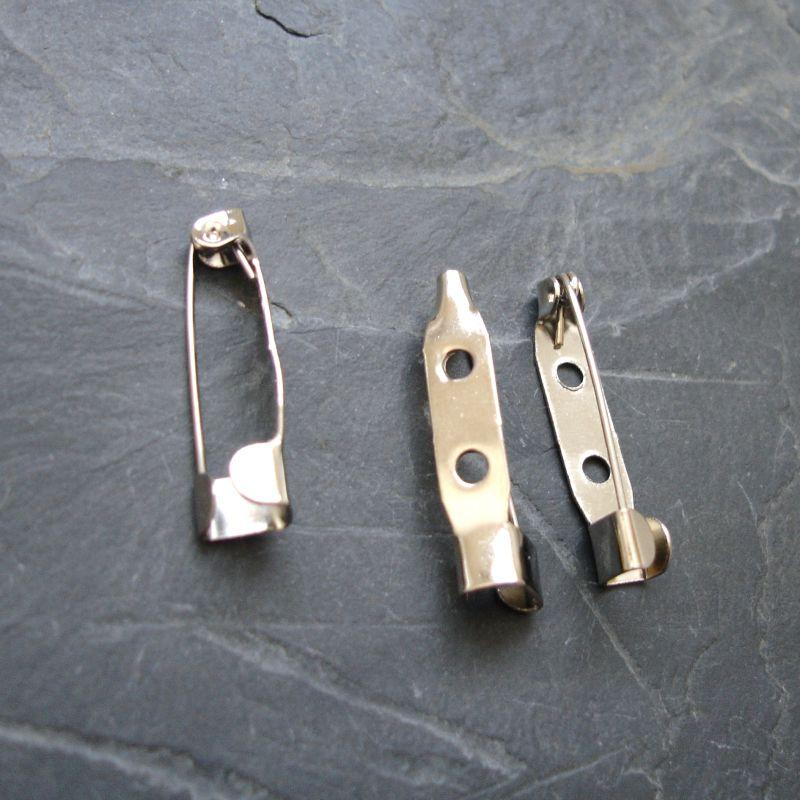 Brožový můstek 25x5 mm - platinový - 10 ks