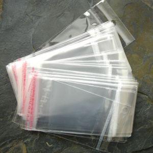 Celofánový lepící pytlík 10(5,5)x5 cm - 50 ks