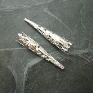Kaplík dlouhý zdobený 41x8 mm - stříbrný