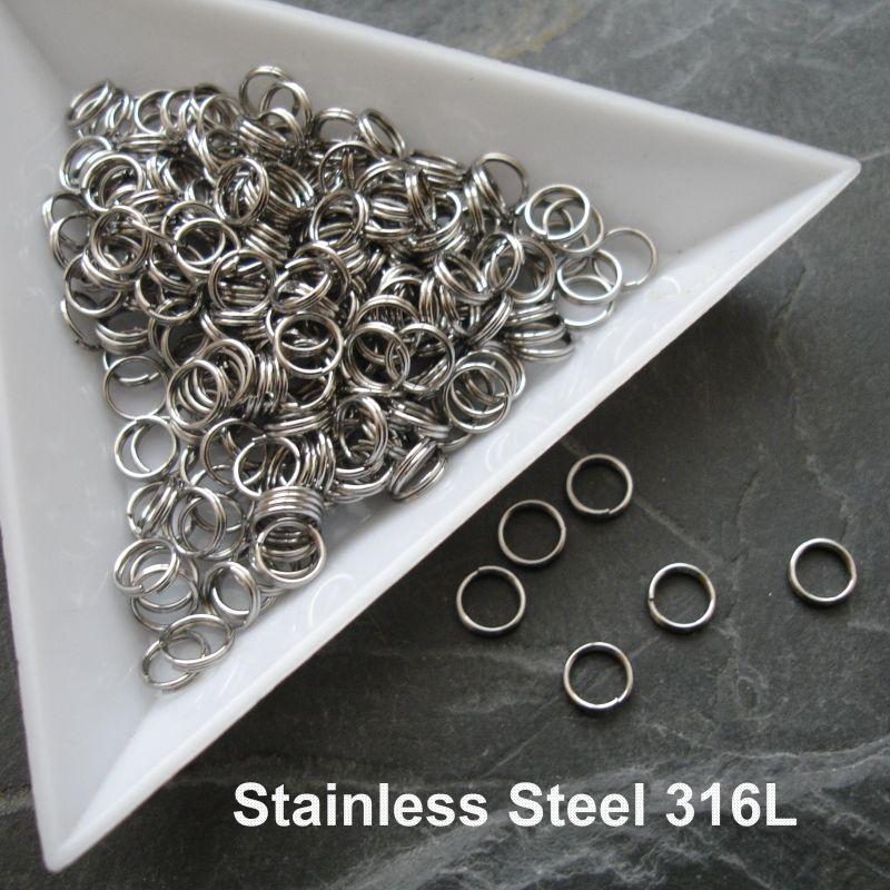 Dvojité kroužky 5x0,5mm chirurgická ocel 316L (Stainless Steel)