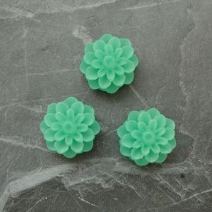 Kabošon chryzantéma 15mm - zelená - 2 ks