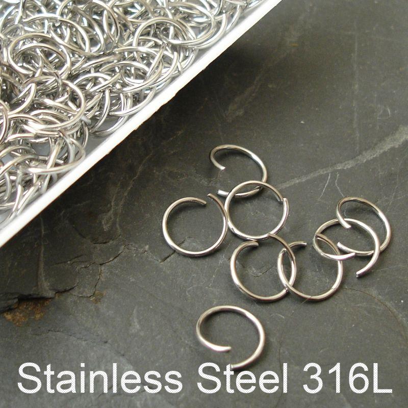 Kroužky spojovací 8mm - chirurgická ocel 316L (Stainless Steel)