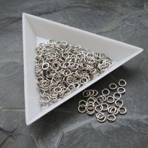 Kroužky spojovací - průměr 4mm - platinové - 100 ks