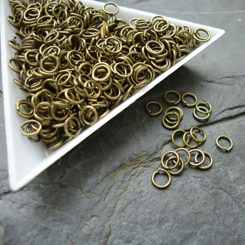 Kroužky spojovací - průměr 5mm - starobronzové