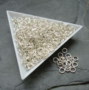 Spojovací kroužky 5mm - stříbrné